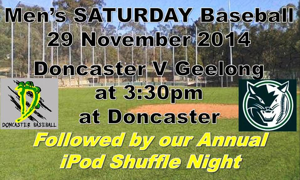 MENS SATURDAY GAME: Geelong @ Doncaster