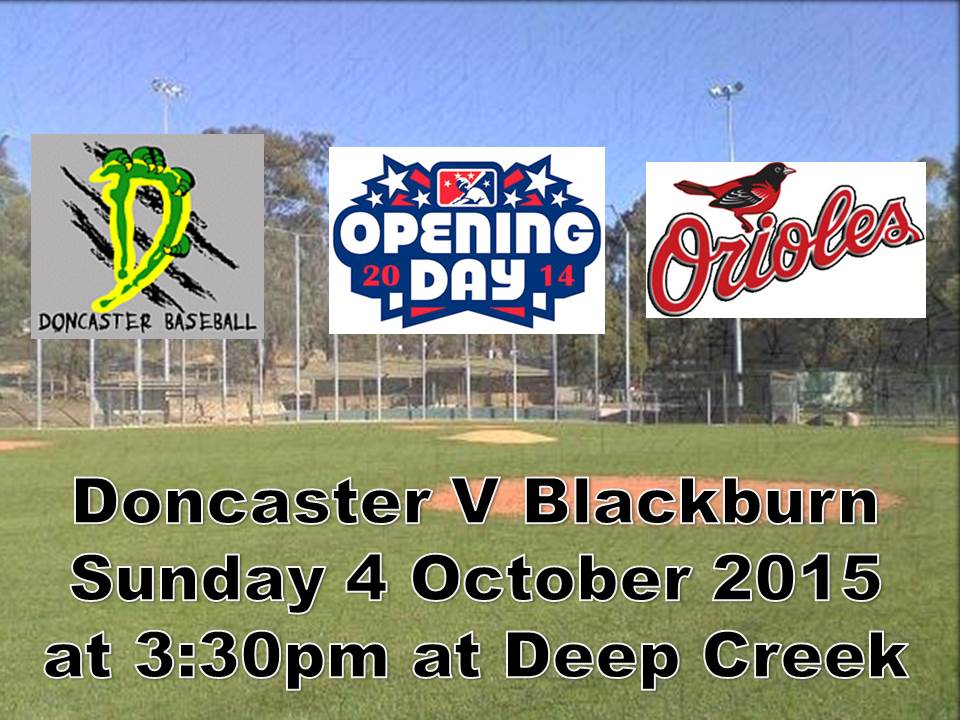 Opening Day Sunday 4 October