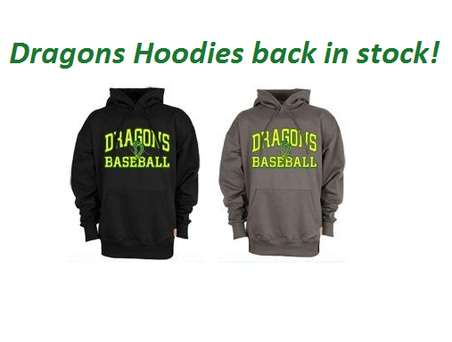 Dragons hoodies now in stock!